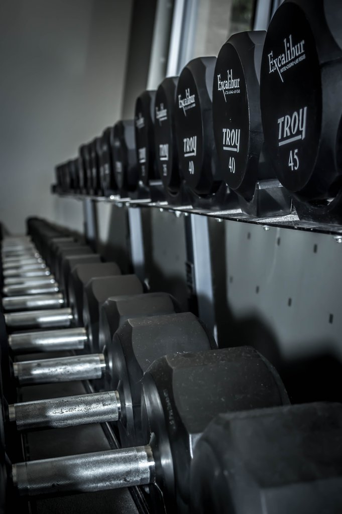 Excalibur Hotel and Casino - Fitness Center Weights <br/>Image from Leonardo