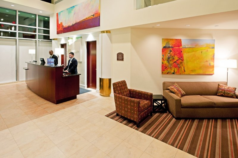 Holiday Inn L.I. City-Manhattan View-Our Lobby is a great place to meet with family and friends.<br/>Image from Leonardo