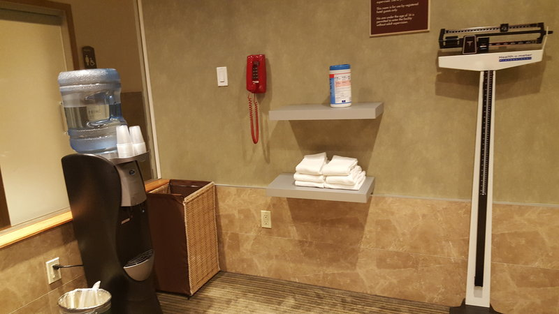 Holiday Inn L.I. City-Manhattan View-Triple Beam scale, water cooler and towels for your convenience<br/>Image from Leonardo