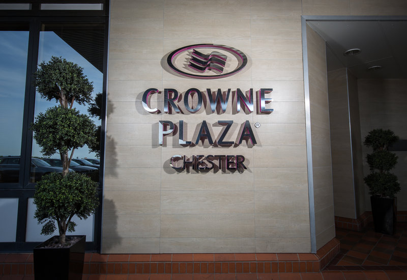 Crowne Plaza Chester-Entrance from hotel car park<br/>Image from Leonardo