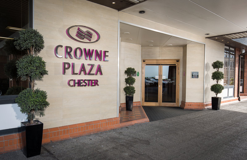 Crowne Plaza Chester-Hotel Entrance<br/>Image from Leonardo