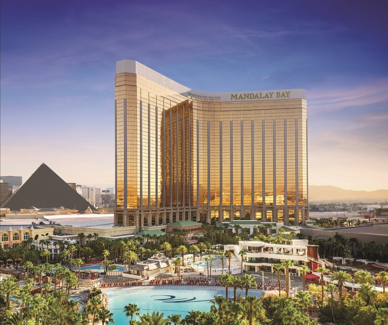 Mandalay Bay Resort and Casino-Mandalay Bay Exterior<br/>Image from Leonardo