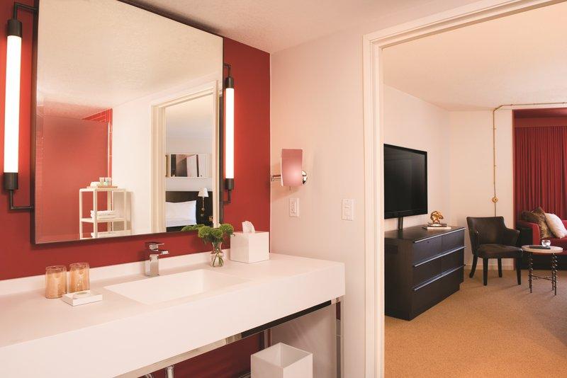 Park MGM Las Vegas - Nightingale Suite Bathroom And Room <br/>Image from Leonardo