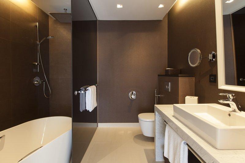 Crowne Plaza Geneva-King Club Suite Bathroom<br/>Image from Leonardo