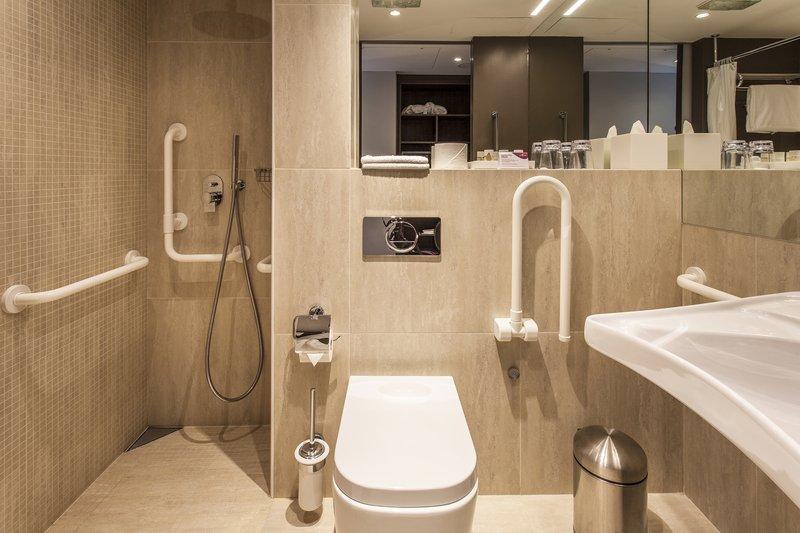 Crowne Plaza Geneva-Disabled Guest Room Bathroom<br/>Image from Leonardo