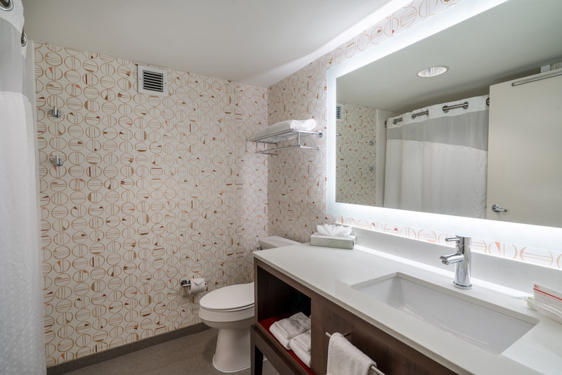 Holiday Inn Atlanta/Roswell-Bathrooms with Electric Mirrors in newly renovated rooms<br/>Image from Leonardo