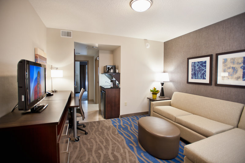 Holiday Inn Express & Suites Dayton South - I-675-A full suite for the family to enjoy after a day at Kings Island. <br/>Image from Leonardo