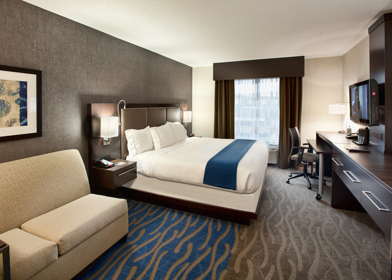 Holiday Inn Express & Suites Dayton South - I-675-Spacious King room to relax in after watching the Dayton Dragons<br/>Image from Leonardo