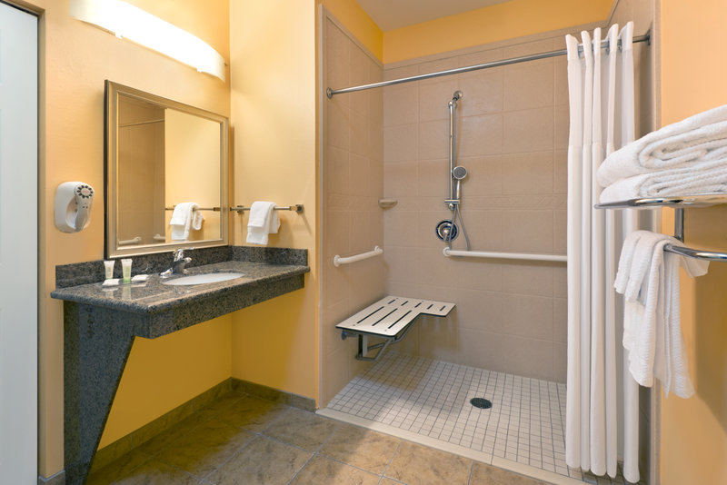 Staybridge Suites Tucson Airport-ADA/Handicapped Accessible Guest Bathroom with Roll-In Shower<br/>Image from Leonardo