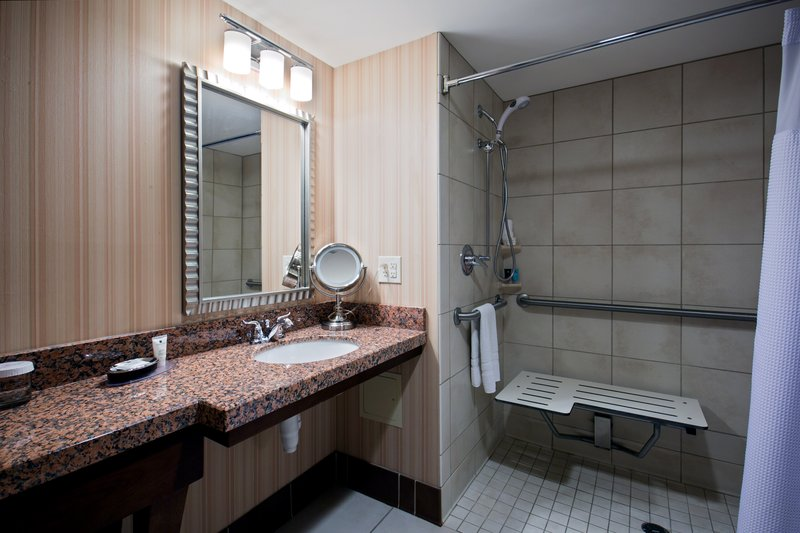 Crowne Plaza Milwaukee West-Wheelchair Accessible Bathroom<br/>Image from Leonardo