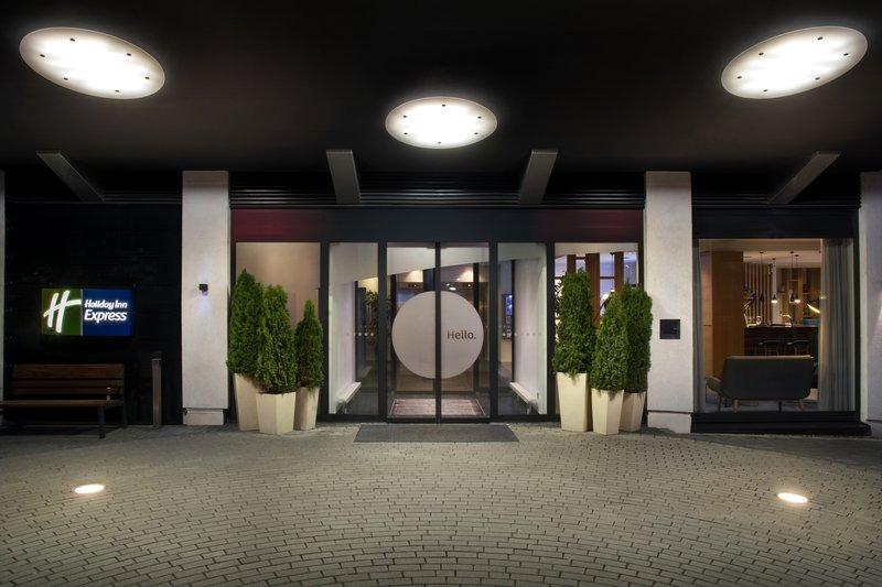 Holiday Inn Express Stuttgart Airport-Welcoming entrance to Holiday Inn Express, near Stuttgart Airport.<br/>Image from Leonardo