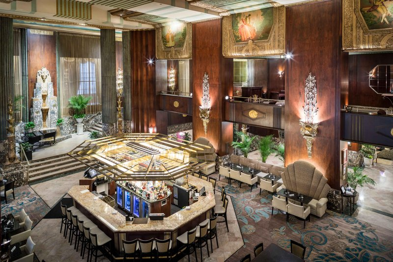 Hilton Cincinnati Netherland Plaza-Bar at Palm Court<br/>Image from Leonardo