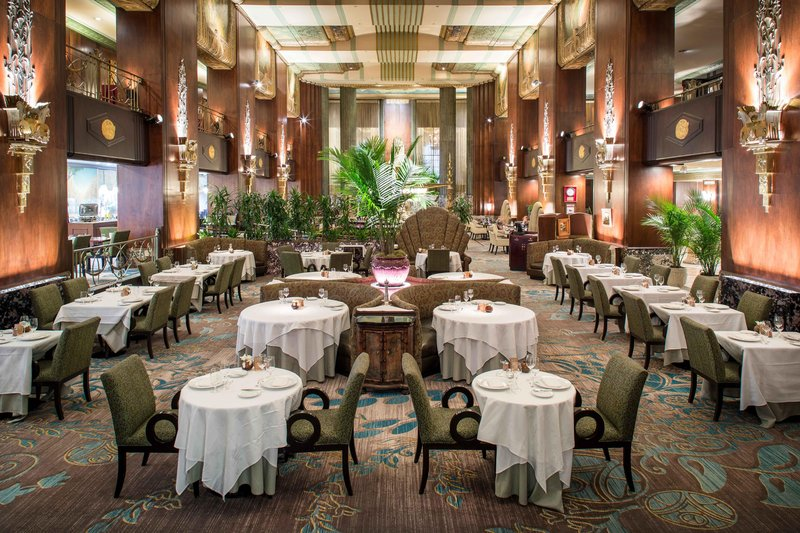 Hilton Cincinnati Netherland Plaza-Orchids at Palm Court<br/>Image from Leonardo