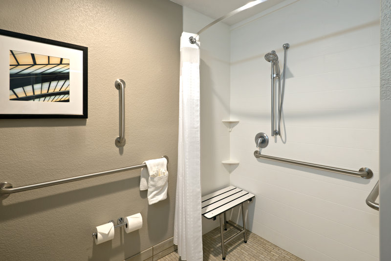 Holiday Inn Express Fraser - Winter Park Area-ADA/Handicapped Accessible Guest Bathroom with Roll-In Shower<br/>Image from Leonardo