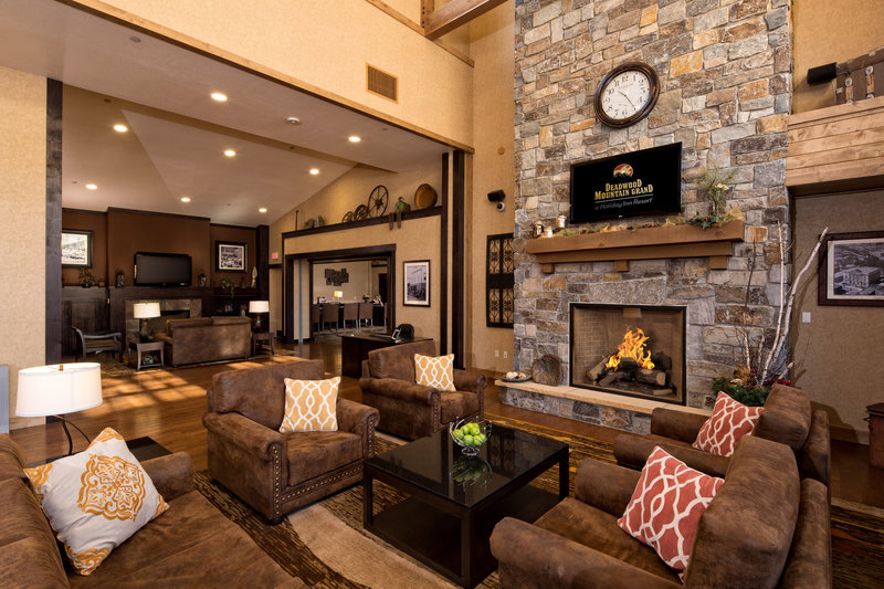 Holiday Inn Resort Deadwood Mountain Grand-Our welcoming hotel lobby is cozy yet grand.<br/>Image from Leonardo