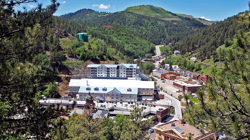 Holiday Inn Resort Deadwood Mountain Grand-View of property from Mt. Moriah, burial site of Wild Bill Hickok<br/>Image from Leonardo