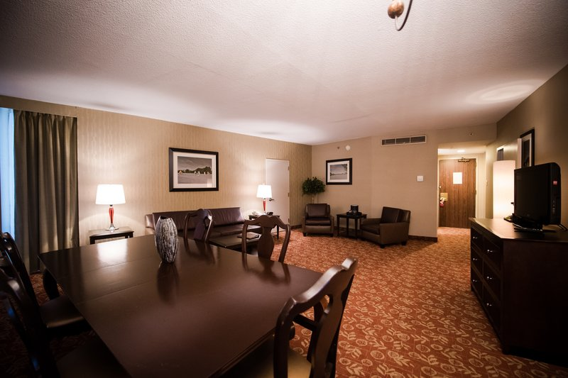 Crowne Plaza Philadelphia-Cherry Hill-Junior Suite Living Area connects to a room with one king bed<br/>Image from Leonardo