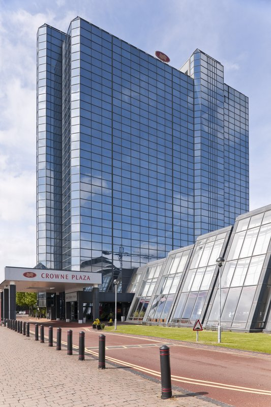 Crowne Plaza Glasgow-Crowne Plaza Glasgow - main entrance and access road<br/>Image from Leonardo