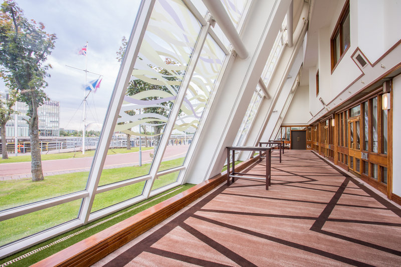 Crowne Plaza Glasgow-Pre-function Area overlooking the river Clyde<br/>Image from Leonardo