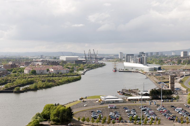Crowne Plaza Glasgow-View of the River Clyde from Crowne Plaza Glasgow<br/>Image from Leonardo