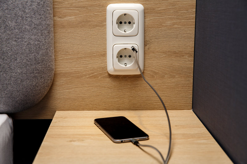 Holiday Inn Express Dortmund-Convenient sockets for charging devices<br/>Image from Leonardo