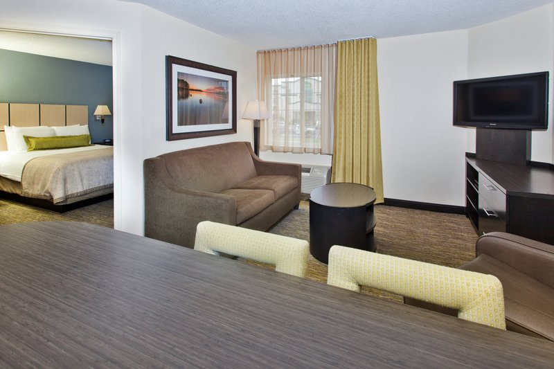 Candlewood Suites Jersey City-Our spacious one bedroom suite with sleeper sofa!<br/>Image from Leonardo