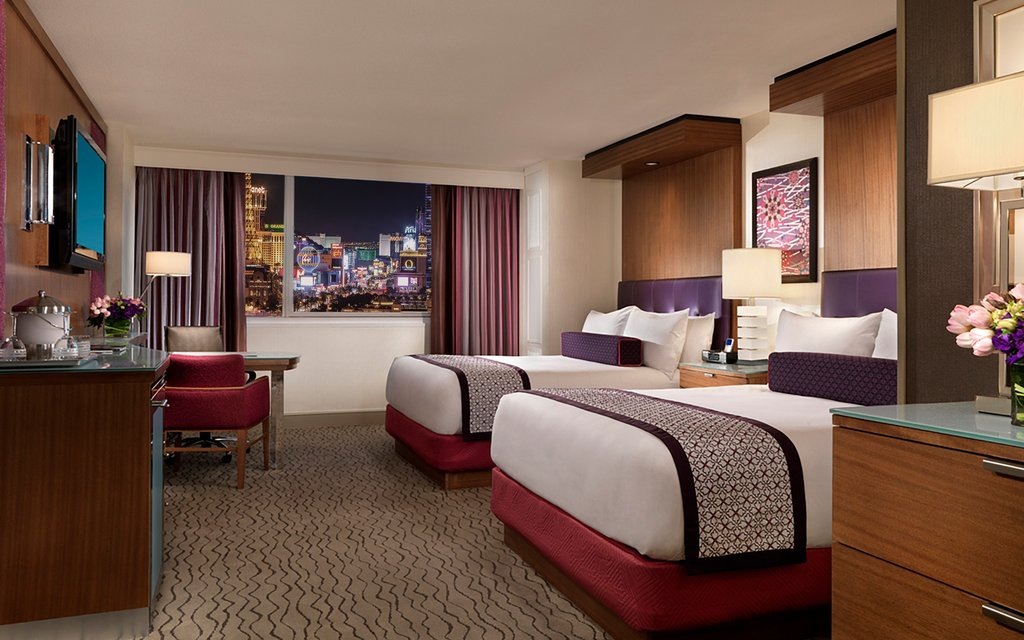 The Mirage Hotel and Casino - Queen Strip View Room <br/>Image from Leonardo