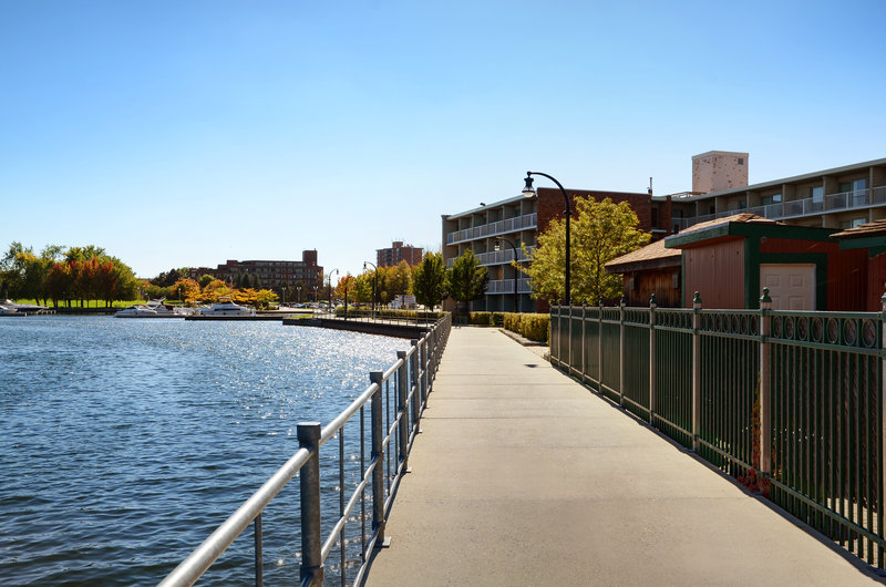 Holiday Inn Peterborough-Waterfront-Otonabee River Trail on South Side of Holiday Inn<br/>Image from Leonardo
