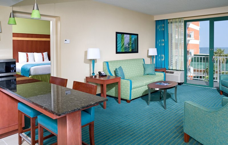 Holiday Inn Hotel & Suites Virginia Beach - North Beach-Deluxe Suite with 2 Queen Beds. Bedroom & Living Room Face Ocean.<br/>Image from Leonardo