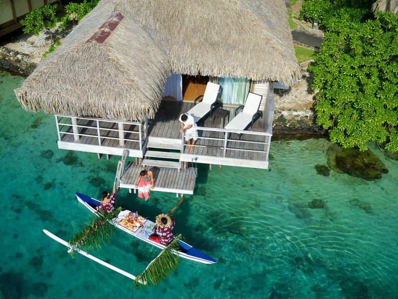 Intercontinental Moorea Resort-Canoe Breakfast<br/>Image from Leonardo
