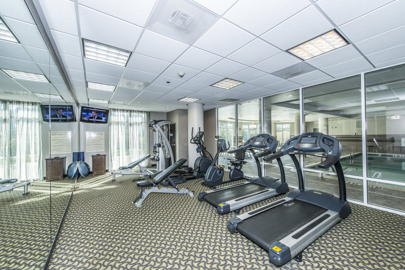 Holiday Inn Express Hotel & Suites Charleston Apt-Conv Ctr-Our 24hr fitness center features free weights and cardio machines.<br/>Image from Leonardo