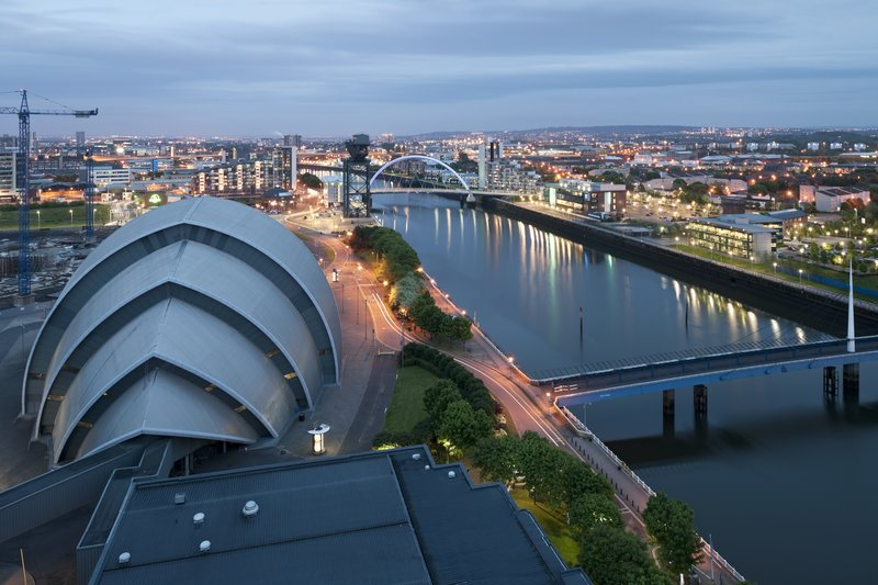 Crowne Plaza Glasgow-A spectacular view of the city from Crowne Plaza Glasgow<br/>Image from Leonardo