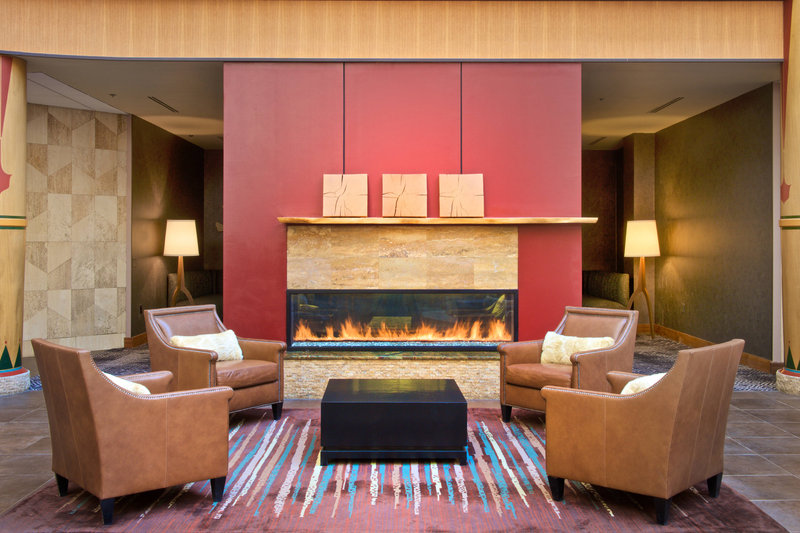 Sheraton Anchorage Hotel & Spa-Lobby - Fireplace<br/>Image from Leonardo