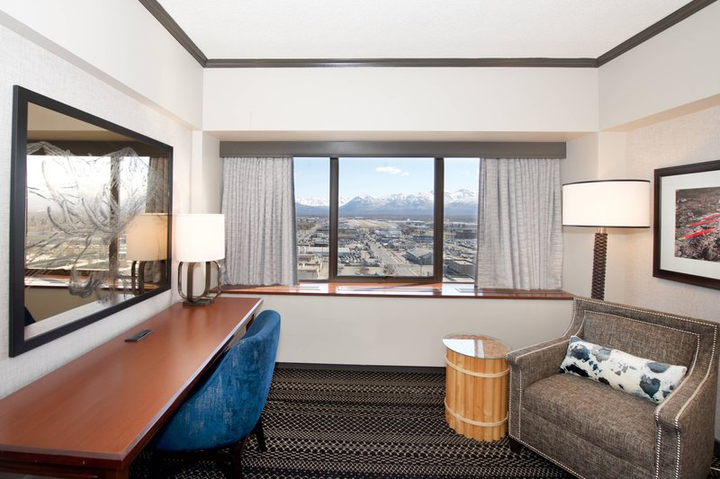 Sheraton Anchorage Hotel & Spa-King Guest Room - Seating Area<br/>Image from Leonardo