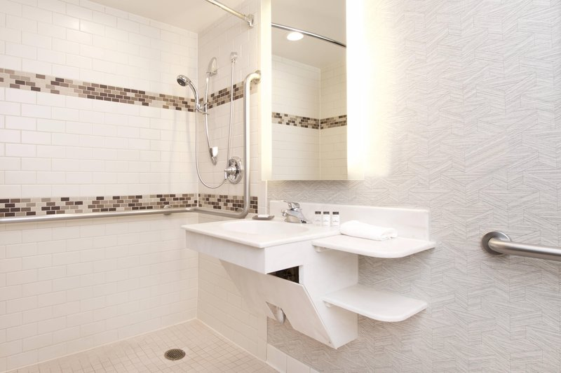 Sheraton Anchorage Hotel & Spa-Mobility Accessible Guest Bathroom - Roll-In Shower<br/>Image from Leonardo