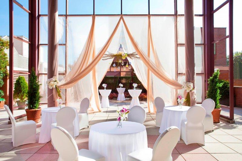 Sheraton LaGuardia East Hotel-Outdoor Terrace - Reception Setup<br/>Image from Leonardo