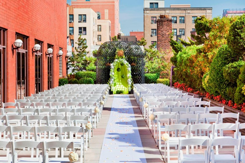 Sheraton LaGuardia East Hotel-Outdoor Terrace - Wedding Ceremony<br/>Image from Leonardo