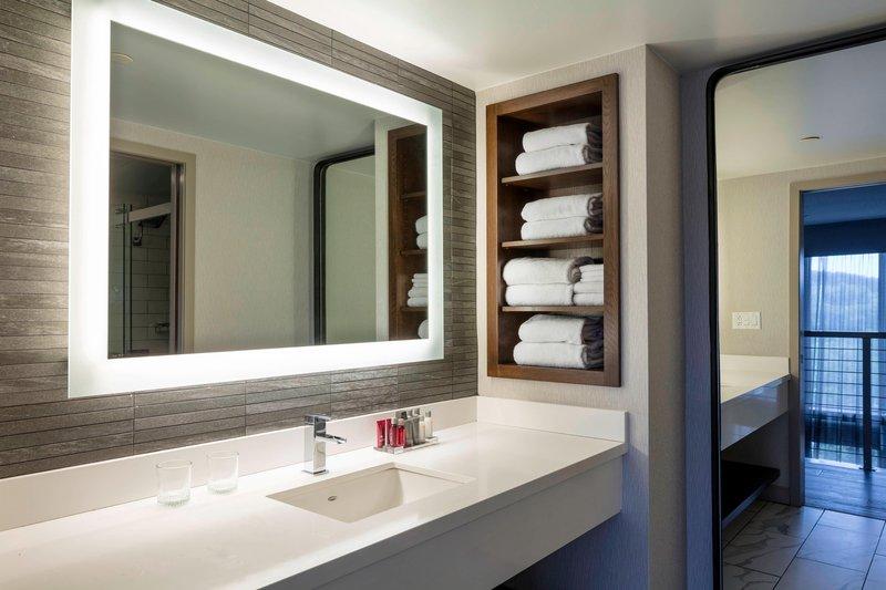 Boston Marriott Newton-Suite Bathroom - Vanity<br/>Image from Leonardo