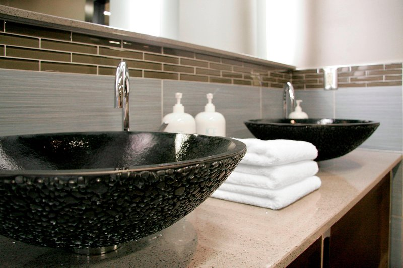 Sheraton Anchorage Hotel & Spa-Ice Spa - Mens Lounge Sinks<br/>Image from Leonardo