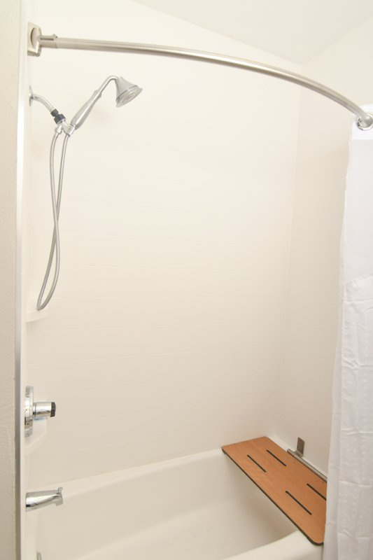 Holiday Inn Express & Suites Port Clinton - Catawba Island-Guest Bathroom Shower ADA<br/>Image from Leonardo