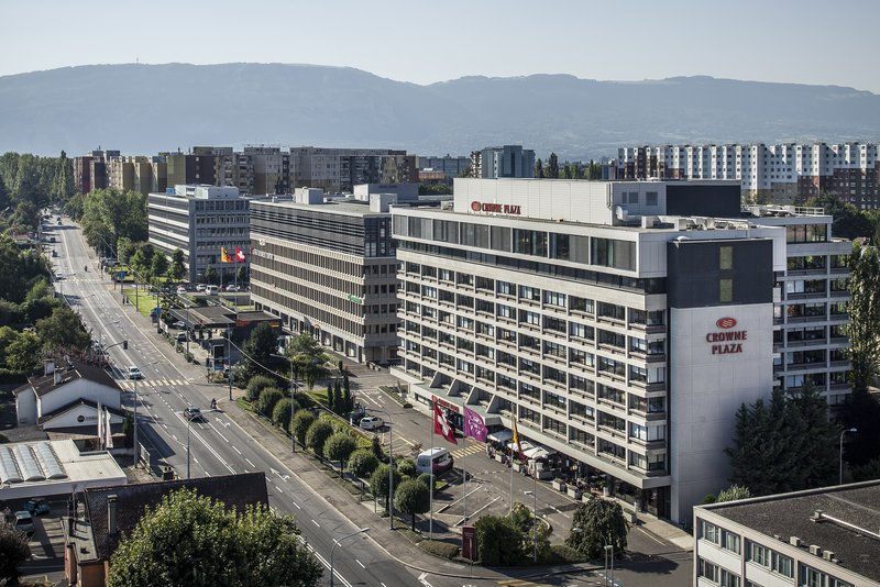 Crowne Plaza Geneva-Hotel Exterior with view over the city or the mountains<br/>Image from Leonardo