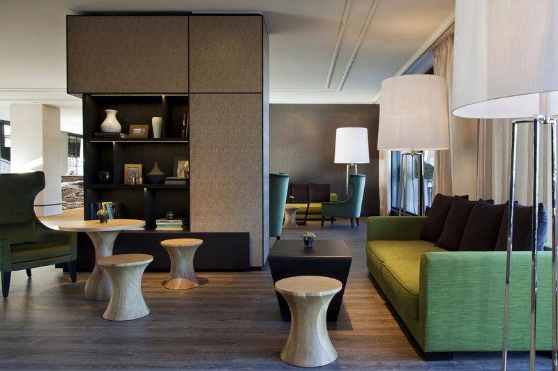 Crowne Plaza Geneva-Sitting Area in the Hotel Lobby<br/>Image from Leonardo