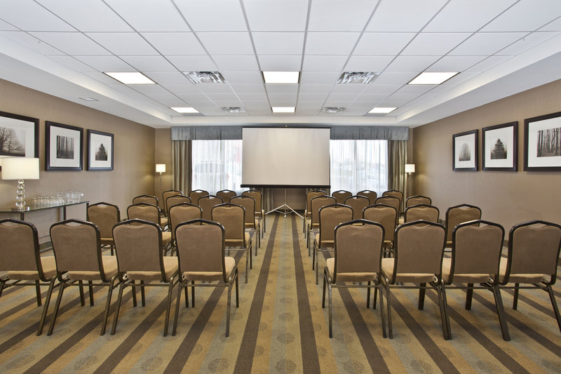 Holiday Inn Express & Suites Kingston-Meeting room set up for a classroom style meeting.<br/>Image from Leonardo