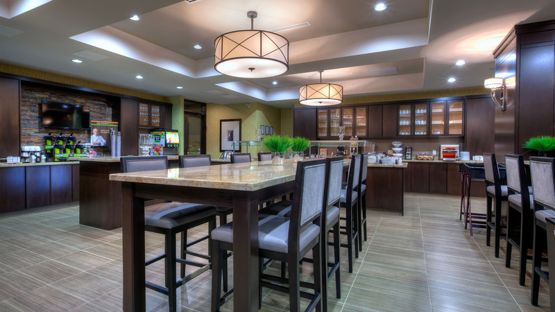 Staybridge Suites Hamilton - Downtown-Complimentary Breakfast Area - Gathering Table<br/>Image from Leonardo