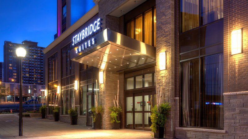 Staybridge Suites Hamilton - Downtown-Welcoming Entrance to our Hamilton Downtown Hotel.  <br/>Image from Leonardo