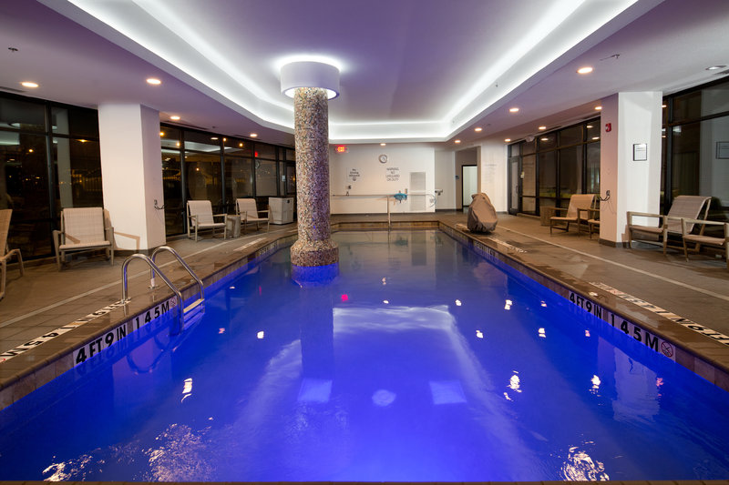 Holiday Inn Express & Suites Oklahoma City Downtown-Evening swim after a full day in Bricktown and Oklahoma City!<br/>Image from Leonardo