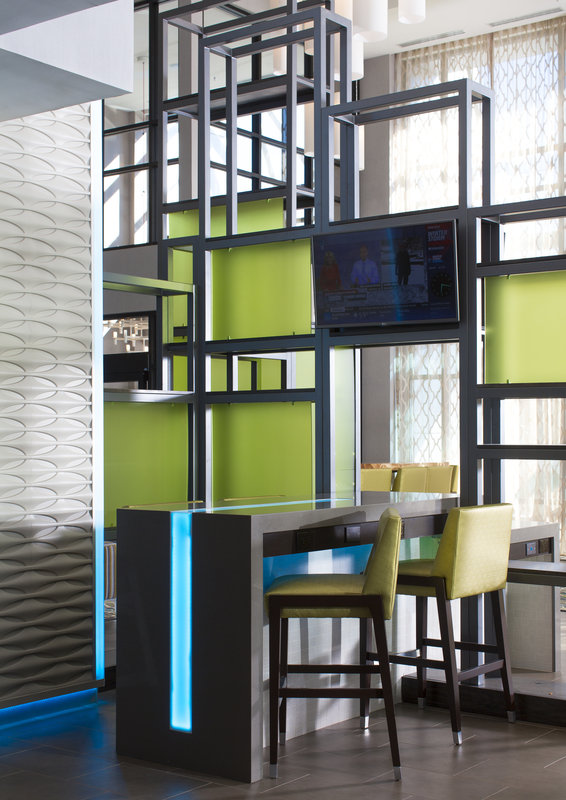 Holiday Inn Express & Suites Oklahoma City Downtown-Work retreat in our hotel lobby with free wifi!<br/>Image from Leonardo