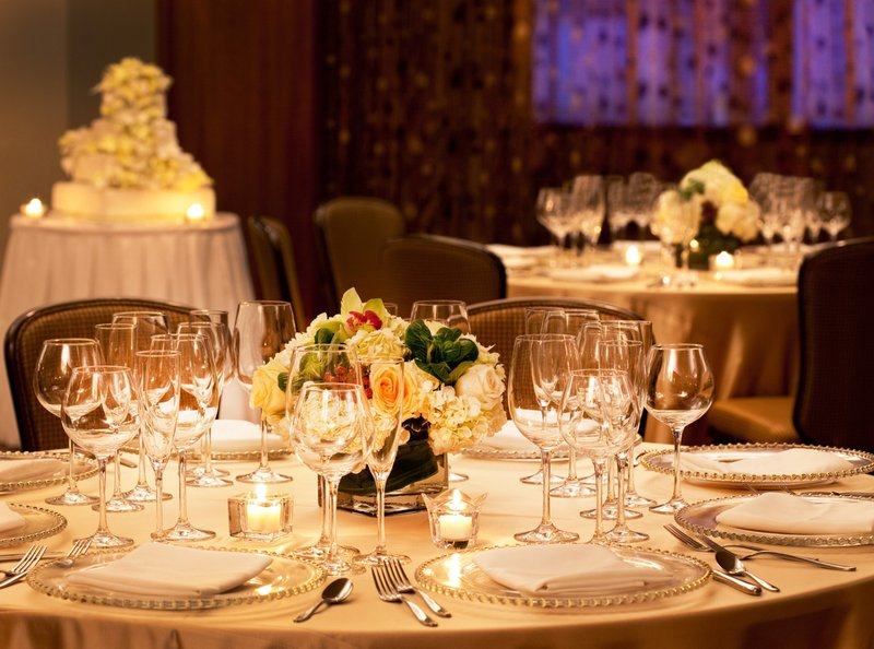 Crowne Plaza Boston - Newton-Wedding Reception Table<br/>Image from Leonardo