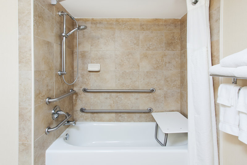Holiday Inn Dover-Downtown-ADA/Handicapped accessible Guest Bathroom with mobility tub<br/>Image from Leonardo