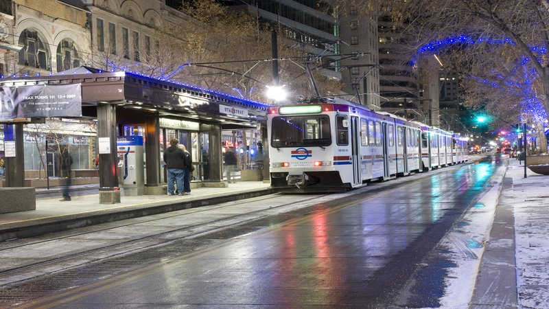 Holiday Inn Express & Suites Salt Lake City - Airport East-TRAX public transportation system and within walking distance <br/>Image from Leonardo